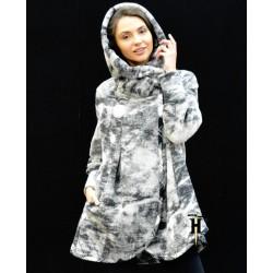 Poncho Coat with hood-AHB 407