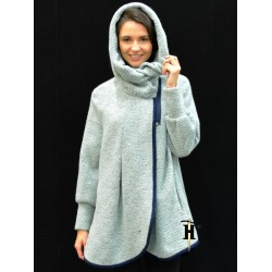 Poncho Coat with hood-AHB 413