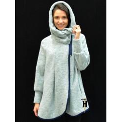 Poncho Coat with hood-AHB 413