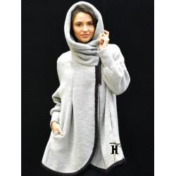 Poncho Coat with hood-AHB 414