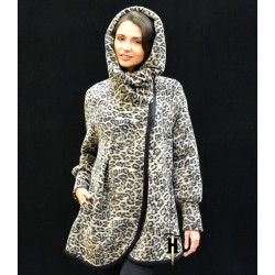 Poncho Coat with hood-AHB 409